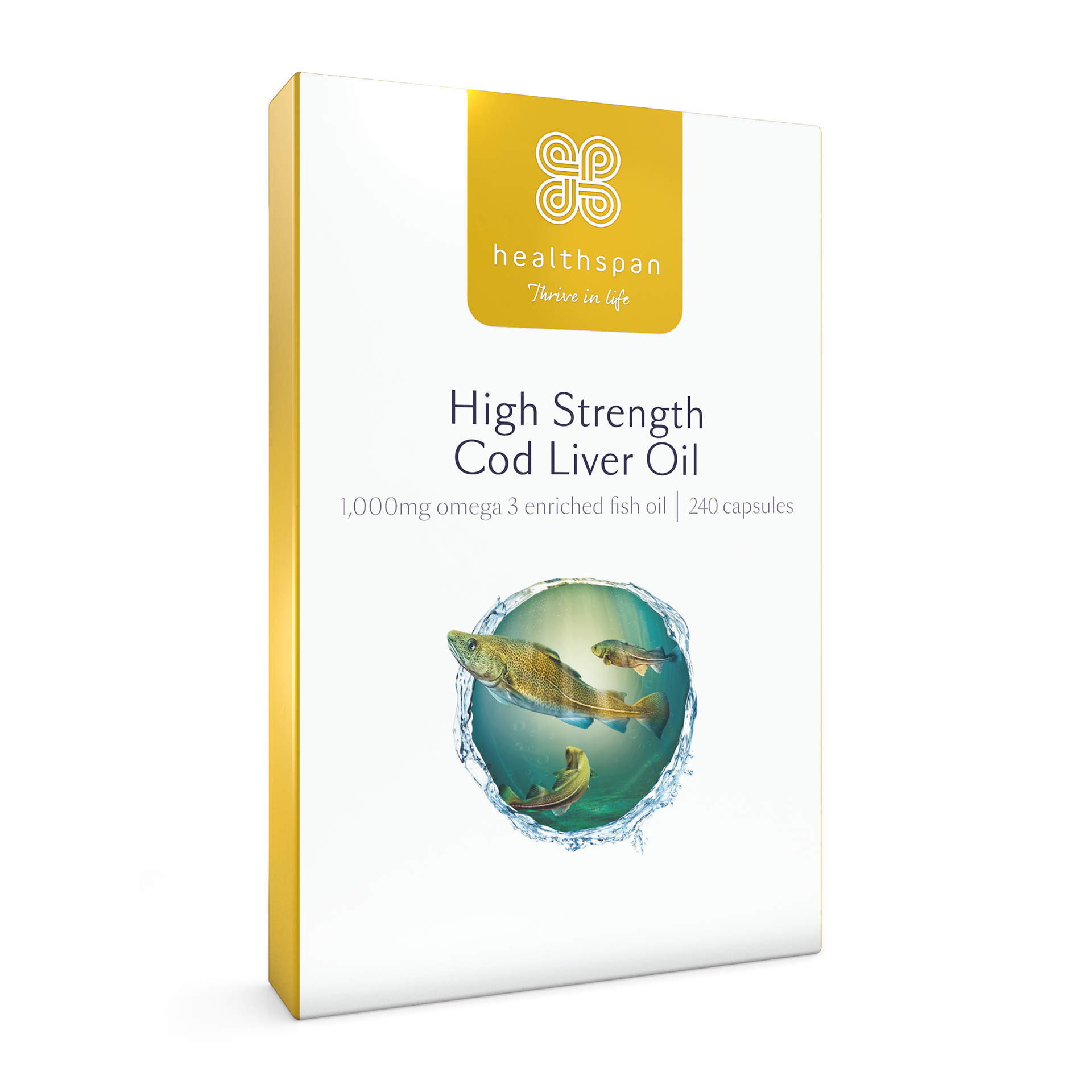 High Strength Cod Liver Oil 1,000mg 240 pack