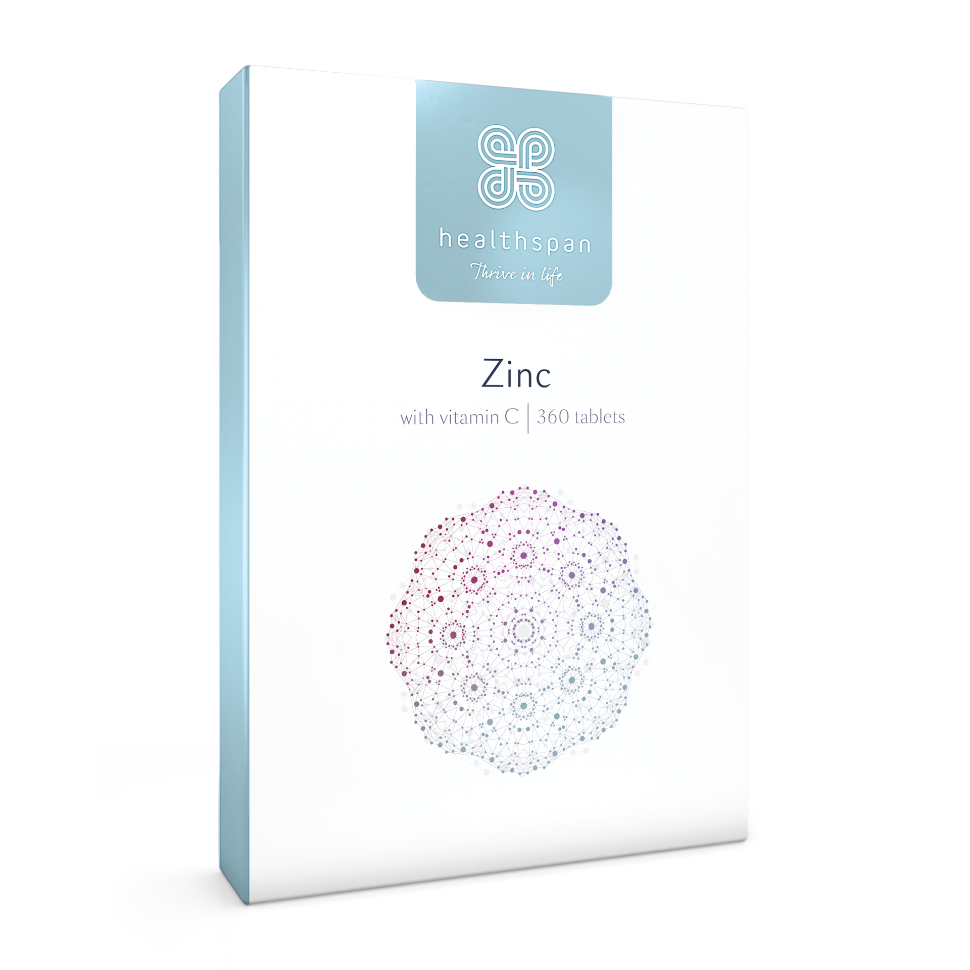Zinc With Vitamin C - 360 Tablets